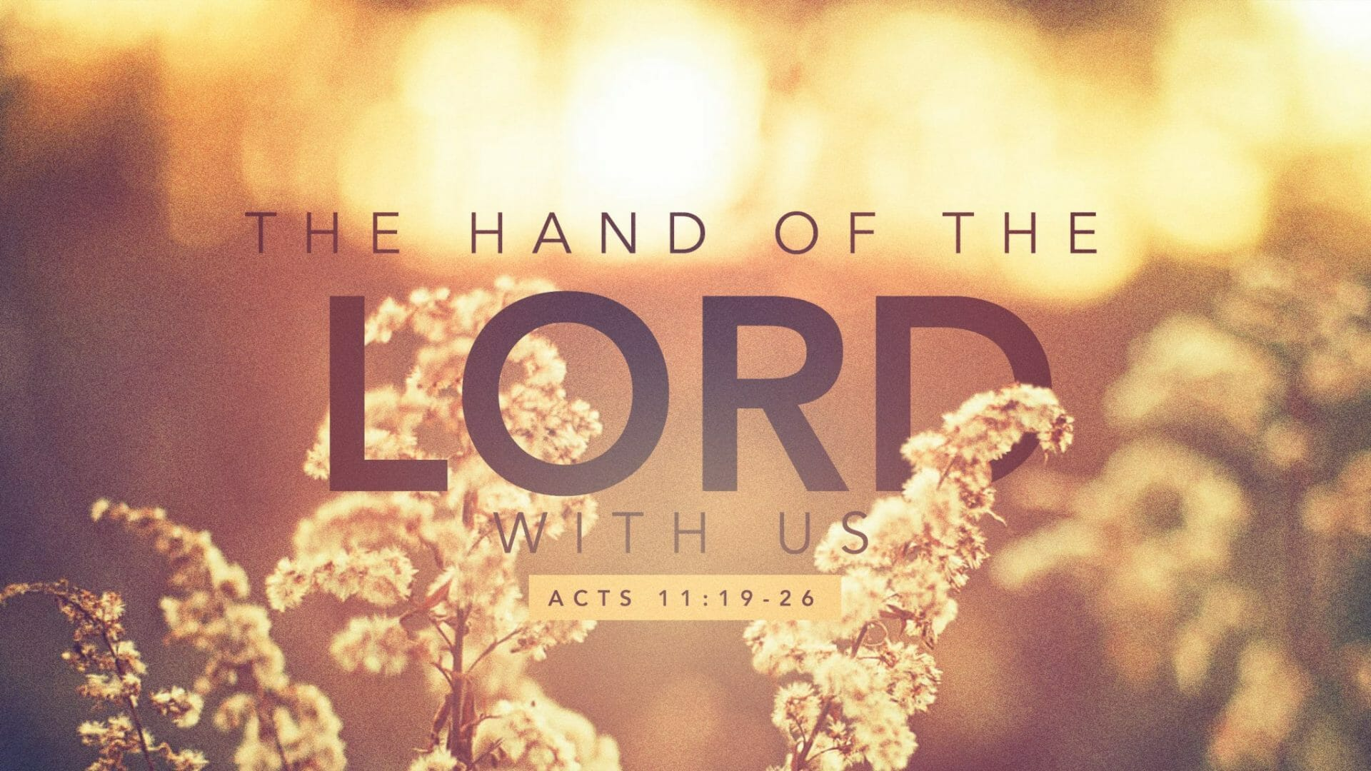 The Hand Of The Lord – Part 1